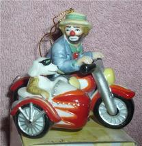 Emmett Kelly Jr. Motorcycle w/ side car his side kick circus clown ornament - $48.31