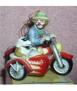 Emmett Kelly Jr. Motorcycle w/ side car his side kick circus clown ornament - $48.31
