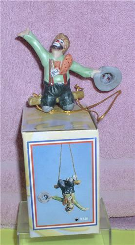 Primary image for Emmett Kelly Jr. Trapeze artist circus clown ornament