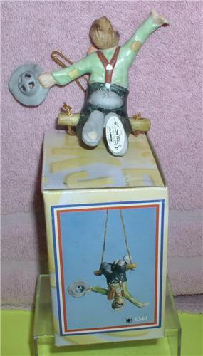 Emmett Kelly Jr. Trapeze artist circus clown ornament