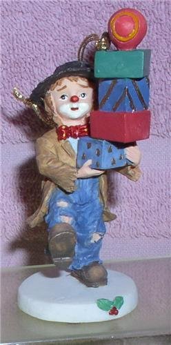 Primary image for Emmett Kelly Jr. circus clown Little Emmett  Pile of Package ornament