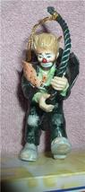 Emmett Kelly Jr. rope climber circus clown  ornament - $19.14