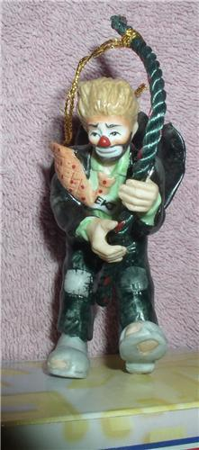 Emmett Kelly Jr. rope climber circus clown  ornament
