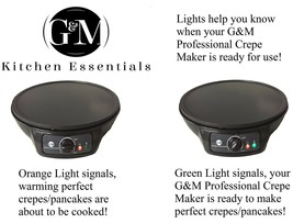 Professional Crepe Maker Machine by G&M Kitchen Essentials – Non-Stick 1... - $59.95