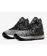 Nike LeBron XVII 17 'In The Arena' Men's Size 9 Black White Oreo BQ3177-... - $159.99