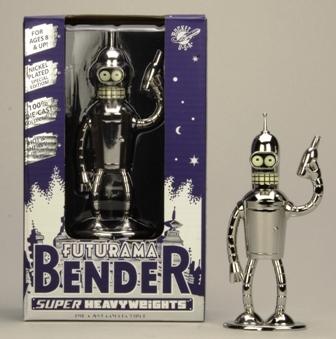 Futurama Die Cast Metal Shinny Bender 5 inches Super Heavy Weight
