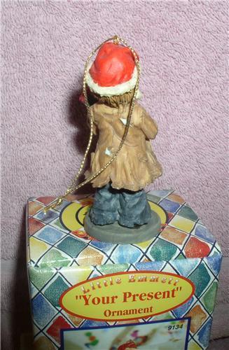 Little Emmett Kelly circus clown Little Emmett  Your Present ornament