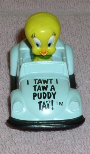 Looney Tunes  Tweety bird in race car Warner Brother Die Cast Metal