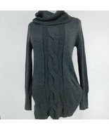 INC International Concepts Womens Sweater Dress S Small Gray Hi-Lo Mock ... - $88.11
