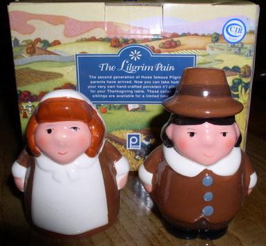 Thanksgiving Salt & Pepper Pilgrim Children