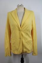 NWOT Talbots S Yellow Cotton Blend Jersey 2-Button Blazer Jacket SJ2 - $28.49