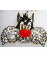 Warner Brothers Sylvester Austrian crystals Brooch Pin/pins - $36.59