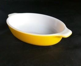 Pyrex Tableware Corning Au Gratin Pixie Dish Yellow Casserole Vtg USA Made - $26.18