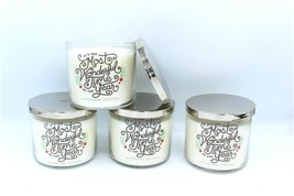 Lot of 4 Bath & Body Works Fresh Balsam Wonderful Time 3 Wick Large Jar ... - $74.99
