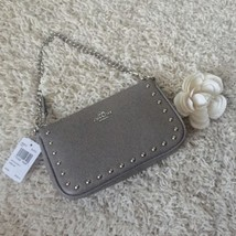 Coach Large Wristlet 19 with Lacquer Rivets - Fog - $126.72