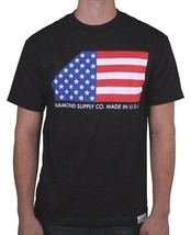 Diamond Supply Co. Black or White USA Made American Flag Stars Stripes T-shirt image 2