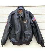 US AIR FORCE US WINGS FLYERS MEN'S LEATHER TYPE A-2 FLIGHT JACKET - SIZE... - $183.15