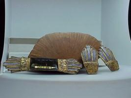 Bonwit Teller Vintage Egyptian Revival Artisan Pin Brooch Earrings Artis... - $197.99