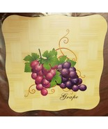 """1 New Natural Bamboo Heat Pad, Kitchen Decor, GRAPES, square, approx. 7""""... - $7.91"""