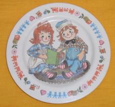Vintage Raggedy Ann Andy Dolls Melamine Plate Oneida - $9.95