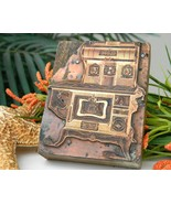 Copper Wood Printing Block Advertising Antique ... - $19.95