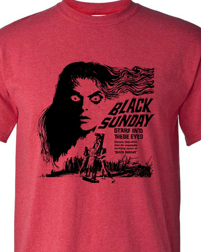 Black Sunday T-shirt retro vintage horror film B-movie heather red graphic tee