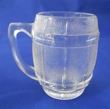 Vintage Hazel Atlas Barrel Keg Mug Shot Glass Clear Barware - €8,49 EUR