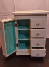 Pottery Barn Teen White Chloe Jewelry Box Tower New With Markings and Sc... - €74,17 EUR
