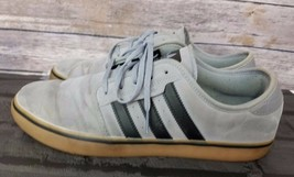 Adidas Mens Sneakers Sz 11 Trefoil Gray leather Shoes - $55.98