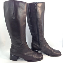 gorgeous  WESTIES Nine West chocolate brown leather fashion campus boots 6 - $23.71