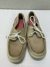 Women's Sperry-Top Sider 9772195 Tan Leather Boat Shoes US Size 9.5M - $23.33