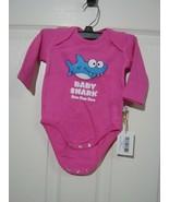 BABY SHARK DOO DOO DOO ONE PIECE SNAP TEE SHIRT  NEWBORN 0-3 MOS  NWT :B... - $13.85