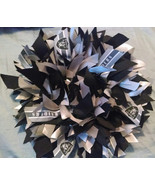 "OAKLAND RAIDERS  13"" Ribbon Wreath Custom Made For Each RAIDER  Fan - $30.00"