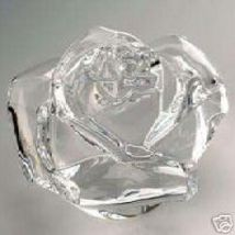 Waterford Collectables LEAD CRYSTAL Rose Paperweight CLEAR MADE IN IRELA... - $149.90