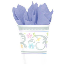 Blessed Day Cross 18 Paper Cups 9 oz Christening Baptism Communion Confi... - $6.64