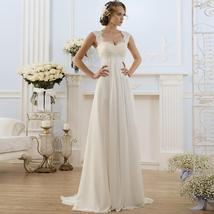 Simple Empire Waist Wedding Dress for Pregnant Woman Chiffon Boho Bride Dress Ho image 1