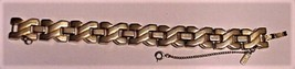 "Vintage Monet Double ""V"" Chain Link Bracelet w/Safety Chain - $59.35"