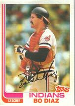 1982 Topps Bo Diaz Cleveland Indians #258 Baseball Card - $1.97