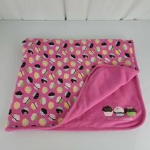 Vintage Gymboree Sweet Tooth Cute as a Cupcake Baby Girl Pink Blanket 2008 - $98.99