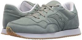 Saucony Originals Mens Green Nubuck Leather DXN Trainer CL Running Sneaker Shoe image 7