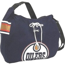 EDMONTON OILERS NHL JERSEY FABRIC STYLE MVP MESSENGER TOTE BAG NEW - $17.99