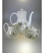 Royal Doulton AURIEL Coffe Pot, Creamer, & Covered Sugar Set - $133.66