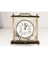 Paul Sebastian Crystal Quartz Mantle Shelf Clock Classic Timepiece NIB Frame  - $18.00
