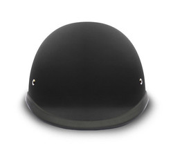 New Daytona Helmets Skull Cap HAWK- Dull Black Motorcycle Helmet - $44.95