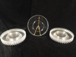 """(12) Candlewick Clear Glass 8-1/4"""" Salad Luncheon Plates - $174.99"""