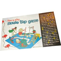 1963 Mouse Trap Board Game, AUTHENTIC ORIGINAL VINTAGE MANUAL - $19.99