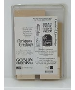 Stampin Up Rubber Stamp Set - Grateful Greetings - 12 Pieces - $19.79