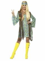 Smiffys 1960s Hippie Chick Flor Niño Adulto Mujer Disfraz Halloween 43127 - $29.50