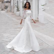2 Pieces Long Sleeve Cape With Off The Shoulder A-Line Satin Princess Wedding Dr image 6