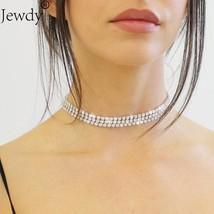 Jewdy® Rhinestone Choker Necklace For Women Female Wedding Jewelry Bijoux - $2.64+